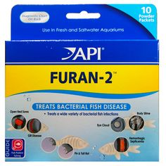 Effective against a wide variety of gram-positive and gram negative bacterial diseases of aquarium fish, including; Furunculosis (Aeromonas), Dropsy, Gill Disease, Fin and Tail Rot, Hemorrhagic Septicemia, Eye Cloud, Black Molly Disease.  http://www.americanaquariumproducts.com/pimafix.html#furan