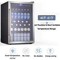 Beverage Refrigerator And Cooler Drink Fridge With Glass Door For Soda Beer Or Wine Small Beverage Cent In 2020 Beverage Refrigerator Beverage Cooler Drinks Fridge