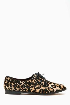 Tan Leopard Suede Oxford Shoes by Nasty Gal. Buy for $88 from Nasty Gal