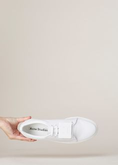 Acne Studios Adriana TurnUp Sneaker (White) — http://totokaelo.com/acne/adriana-turnup-sneaker/white/N1B3B1/1e6154