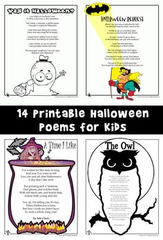 Halloween Poems for Kids | Woo! Jr. Kids Activities
