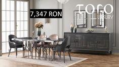 Setul Lion combina nuantele gri antracit cu roz somon pentru un dining stilat și poate fi comandat din Showroom-ul #TORO Luxury, Bd. Pipera 200A.  Rezervari si comenzi: 0746 661 384   Pret Lion dining:  1 masa 7.347 lei (tva inclus) Showroom, Buffet, Cabinet, Dining, Storage, Furniture, Home Decor, Clothes Stand, Dinner