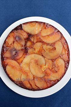 Esta Tarta volteada de peras. es una excelente idea para la hora del té o para llevar de picnic.