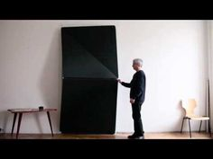 """Klemens Torggler is an Austrian designer and artist who is looking to reinvent the door using two rotating squares. Available in fabric, metal, and glass variants, the """"Evolution"""" door uses hinges to achieve an origami-like fold rather than a track. Architecture Details, Interior Architecture, Interior And Exterior, Interior Design, Porte Design, Door Design, Panel Doors, Windows And Doors, Cool Doors"""