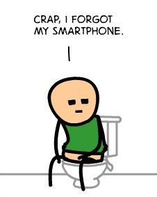 """Crap I forgot my smartphone"" ---Hate when that happens!"