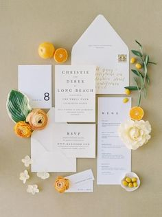 Jun 2019 - A Modern Wedding at The Ebell Long Beach in a Rich Palette of Black, Citrus and Gold Wedding Invitation Wording Examples, Wedding Invitation Inspiration, Country Wedding Invitations, Wedding Stationary, Wedding Themes, Invitation Design, Wedding Wording, Colorful Wedding Invitations, Modern Wedding Stationery