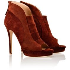 Jerome C. Rousseau Cayenne Suede Riviera Shoe Boots ($940) ❤ liked on Polyvore