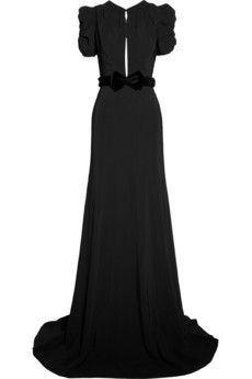 Belted crepe gown by Burberry Prorsum