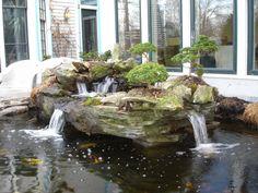 Bonsai island & water feature - cool!