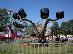 carnival spider ride.  loved this, the scrambler and tilt-o-whirl