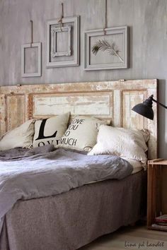 Tuesday Tips - Empty Frames grey, beautiful wall paint effect! Furniture, Interior, Home, Home Bedroom, Bedroom Diy, Home Deco, Bed, Bedroom Decor, Bedroom