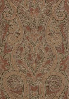 This taupe Patani wallpaper by Thibaut is a good way to warm any man's heart. Order now at http://lelandswallpaper.com