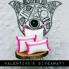 Hey friends! Join our Instagram 💖Valentine's Giveaway contest to win one of these rad pink Tunisian Pom Pom Pillows! We are giving away 3 pillows to 3 lucky winners! Contest goes on today-Feb.13th...Winner will be announced Feb.  14th! Check out our insta page www.instagram.com/thesoukmb/ to enter!