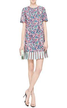 Printed Pleated-Hem Twill Dress by Suno - Moda Operandi