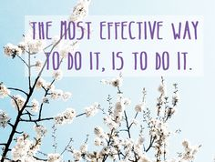 The most effective way to do it...