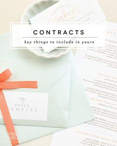 Paper Cuts: Key Things to Include in Your Client Contract — Sincerely Jackie Long Island Wedding Invitations Business Management, Business Planning, Business Tips, Online Business, Business Coaching, Geek Chic, Jackie Jackie, Photography Business, Photography Tips