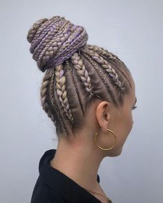 Braided hairstyles are up in trend again. There are too many variations of braided hairstyles. But today I want to talk you about the African Braid Cute Hairstyles For Teens, Sweet Hairstyles, Summer Hairstyles, Everyday Hairstyles, Casual Hairstyles, Medium Hairstyles, Lob Hairstyle, Box Braids Hairstyles, Shakira Hairstyles