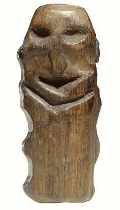 Ancient Netherlands - The Houten Idol; Wood, 5000 BCE, Willemstad