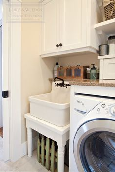 Pretty Slop Sink trend Raleigh Transitional Laundry Room ...