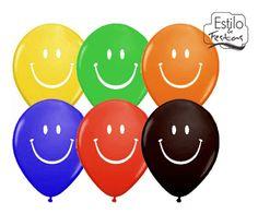 "Balão Smile Face 5\"" colorido Qualatex - Estilo e festas"