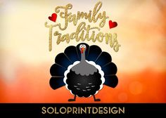 Thanksgiving svg print and cut file Family Traditions with Thanksgiving Turkey. Vector thanksgiving clipart, Turkey svg, Thanksgiving wording svg. It is cuttable - svg file for Cricut and Silhouette dxf. Its also printable - suits for home custom printers - png, pdf files.  ZIP folder contains SVG, PNG, DXF, PDF files. Background image is NOT included. PLEASE FEEL FREE to contact me for HELP and SUPPORT in case of experiencing any issues with the files.  For more svg f...