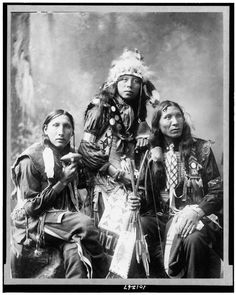 Sioux Men - Poor Elk, Shout For, Eagle Shirt. 1899. Photo By Heyn Photo.