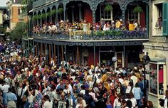 Mardi Gras it is generally associated with a gigantic street party - which is exactly right. Here's your guide on celebrating Mardi Gras in New Orleans The Places Youll Go, Places To See, Festivals, New Orleans Mardi Gras, New Orleans Travel, New Orleans Louisiana, Louisiana Usa, Bourbon Street, French Quarter
