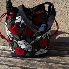 sylvie_et_sa_petite_couture #sacôtin #calypso #mode #accessoires #girly#faitmain #sacamain #madeinardeche #fabricationfrancaise #suedine #skull #tetedemort