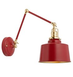 Imbrie Sconce in Matte Red (4 finish choices) $335 retail
