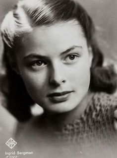 Ingrid Bergman's angelic natural beauty made her appear to be younger than her years. -L.M. Ross