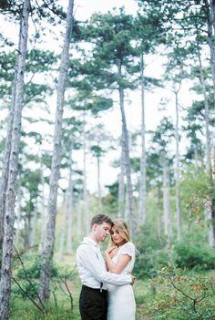 Alex & Johannes // Wedding in the Woods Dress: Ivory Isle Makeup: Sarah Schiller Makeup Artist Wedding In The Woods, Ivory, Wedding Photography, Film, Couple Photos, Makeup, Artist, Dress, Bathing