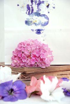 DIY-Windlichter aus Papiertüten mit Blumendruck
