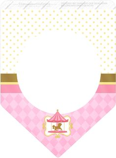 Carousel in Pink: Free Party Printables. Carousel Birthday Parties, Carousel Party, Barbie Birthday Party, Circus Party, Party Printables, Baptism Themes, Printable Birthday Banner, Personalised Gifts Unique, Kids Party Themes