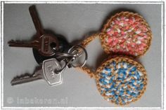 Sleutelhanger haken, beschuit met muisjes, gratis patroon, Nederlands, #crochet, free pattern (Dutch), keychain, amigurumi