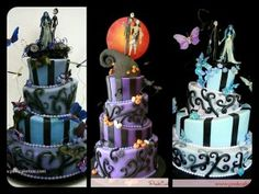 Halloween Themed Wedding Cakes!