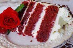 """Torta """"RED VELVET"""" Czech Recipes, Eclairs, Kefir, Baking Recipes, Red Velvet, Yummy Food, Cake, Sweet, Mascarpone"""