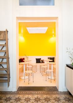 Pop of Color at New Design Hot Spot Buchbar In Antwerp // Photo by Frederik Vercruysse
