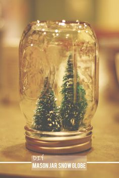 tales of me and the husband: do-it-yourself mason jar snow globe.