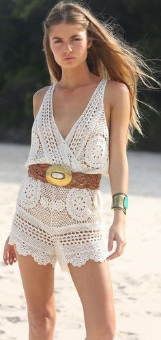 Lovely crochet sun dress