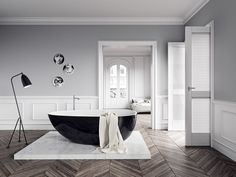 This smooth bath and The Grasshopper Floor Lamp, are regarded as the perfect works. Designed by Greta Grossman