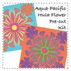 Hawaiian applique, Shades Softfuse, Accuquilt