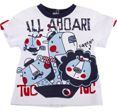 Camiseta m/c all aboard, para nino - tuc tuc Baby Outfits Newborn, Toddler Outfits, Baby Boy Outfits, Kids Outfits, Baby Shirts, Boys T Shirts, Boys Pajamas, Carters Baby Girl, Embroidered Clothes