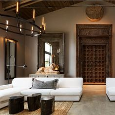 Restoration Hardware's Napa Valley Compound Is Its Most Luxe Design Yet - rustic living room furniture Napa Valley, Restoration Hardware Living Room, Coffee Table Restoration Hardware, Restoration Hardware Lighting, Floor Restoration, Furniture Restoration, Living Room Decor, Living Spaces, Farmhouse Side Table