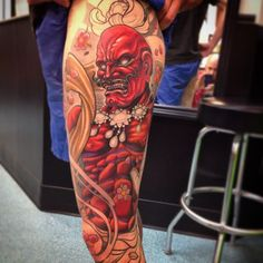Worked on Agyo full leg sleeve today! Thanks Gabe! Much more to go on this one.