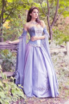 Lady of the Lilac Bridal Gown van FireflyPath op Etsy