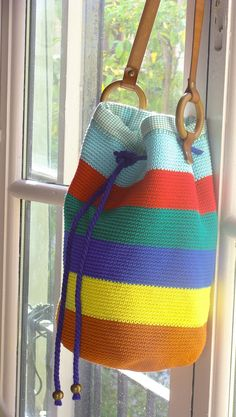 Handmade Cotton Crochet Handbag by RomeroiJuaneta on Etsy