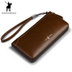 WILLLIAMPOLO 2018 Vintage Leather Long Wallet With Wrist Strip ID Card Holder Wallet For iphone 7plus Holder POLO171326. Yesterday's price: US $67.86 (59.53 EUR). Today's price: US $44.11 (38.64 EUR). Discount: 35%.
