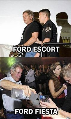 Harrison Ford, Funny Memes, Hilarious, Jokes, Vidéo Gag, Laugh Till You Cry, Ford Escort, Lol, You Funny
