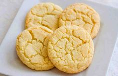 Lemon Cake Cookies (AIP-Friendly, Dairy-Free, 133 mg sodium/cookie) Lemon Cake Cookies, Paleo Cookies, Easy Sugar Cookies, Sugar Cookies Recipe, Paleo Sweets, Paleo Dessert, Cookie Recipes Without Butter, Sugar Cookie Recipe Without Vanilla Extract, Baking Without Butter