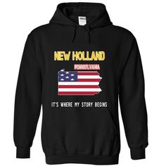 NEW HOLLAND - Its where my story begins! - #husband gift #small gift. CLICK HERE => https://www.sunfrog.com/No-Category/NEW-HOLLAND--Its-where-my-story-begins-9653-Black-18998207-Hoodie.html?68278
